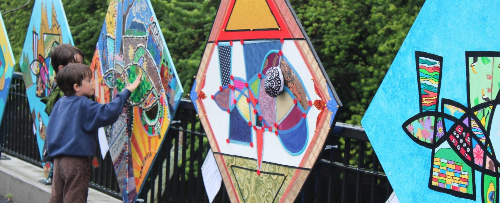Exploring the art installed by local schools on the Concord River Greenway