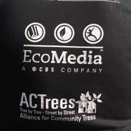 Lahey Health volunteers for tree planting, with Alliance for Community Trees (ACTrees) and CBS EcoMedia