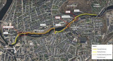 Greenway construction phases