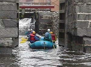 Rafting into the historic locks