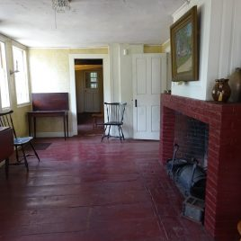 The original kitchen at the Spalding House that served as the 'tap room' when it was an inn (photo courtesy of Barbara Poole)