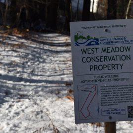 West Meadow trails in winter