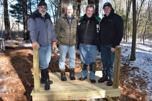 Constellation volunteers built a viewing platform at the vernal pool at West Meadow.