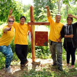Spindle City Corps youth planned and designed their own stewardship project at Hawk Valley Farm, summer 2015.  They created a new gateway sign, seating, improved trails, and removed invasive plant species.