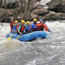 Whitewater rafting right in Lowell!