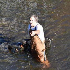 Bob Gagnon, a volunteer from Lowell Canalwaters Cleaners, often coordinates river clean-ups between the Trust and LCC.