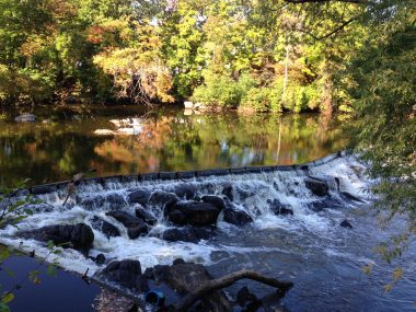 Wamesit Falls off Lawrence Street, along Concord River Greenway