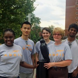 Student interns with ARRIS volunteered to do some landscaping along the Concord River Greenway.