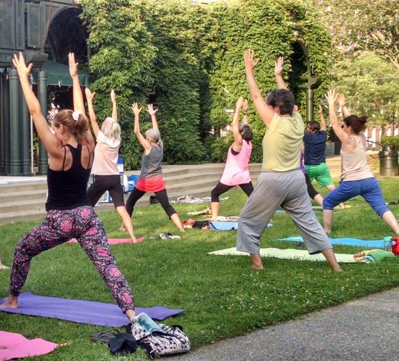 Join us for Yoga in the Park with Marie Marchand.