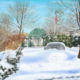 Kittredge Park, oil painting by Mark Romanowsky