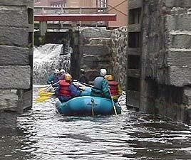 Rafting into the historic locks