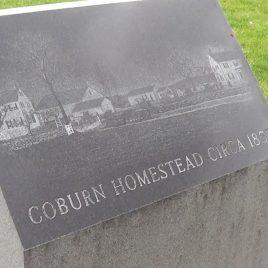 Coburn Park monument, courtesy of Damarius Goldston
